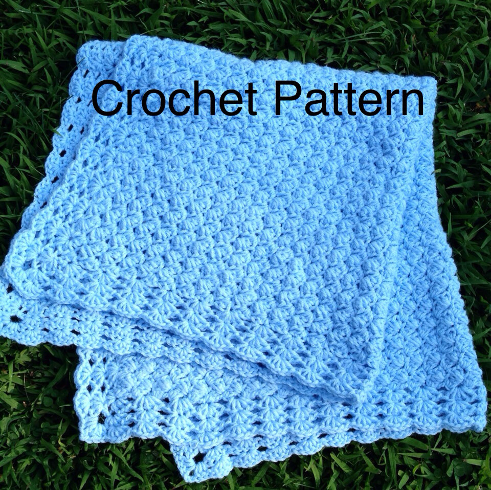 Clusters And Shells Baby Crochet Afghan Pattern : Crochet Baby Blanket Pattern - Afghan Pattern Is Crocheted ...