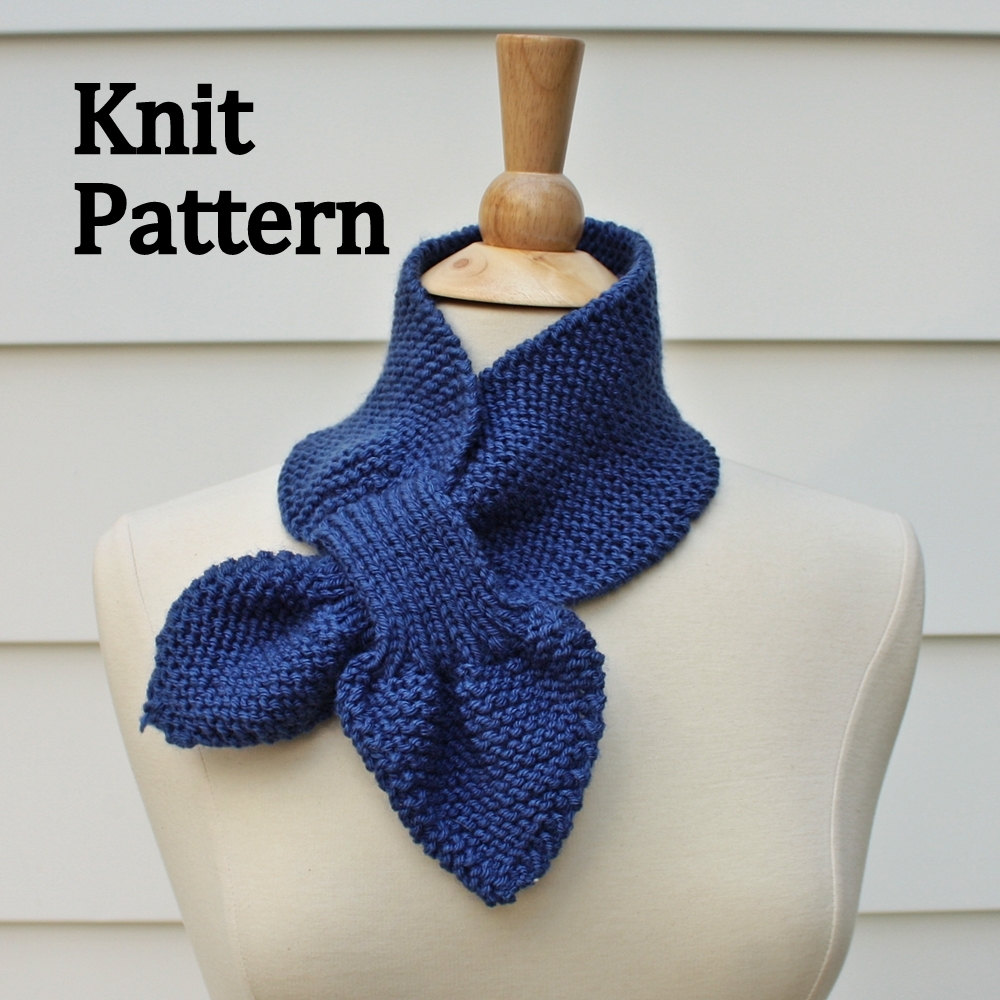 Knitting Easy Pattern Scarf Neck Warmer : Knit Scarf Pattern - Keyhole Scarf Pattern - Unique No Slip Warm Winter Neckw...