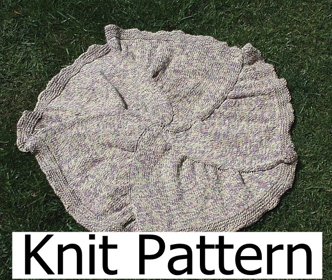 Knitting Pattern For Round Baby Blanket : Knitting Pattern - Baby Blanket Pattern - Round Star Easy ...