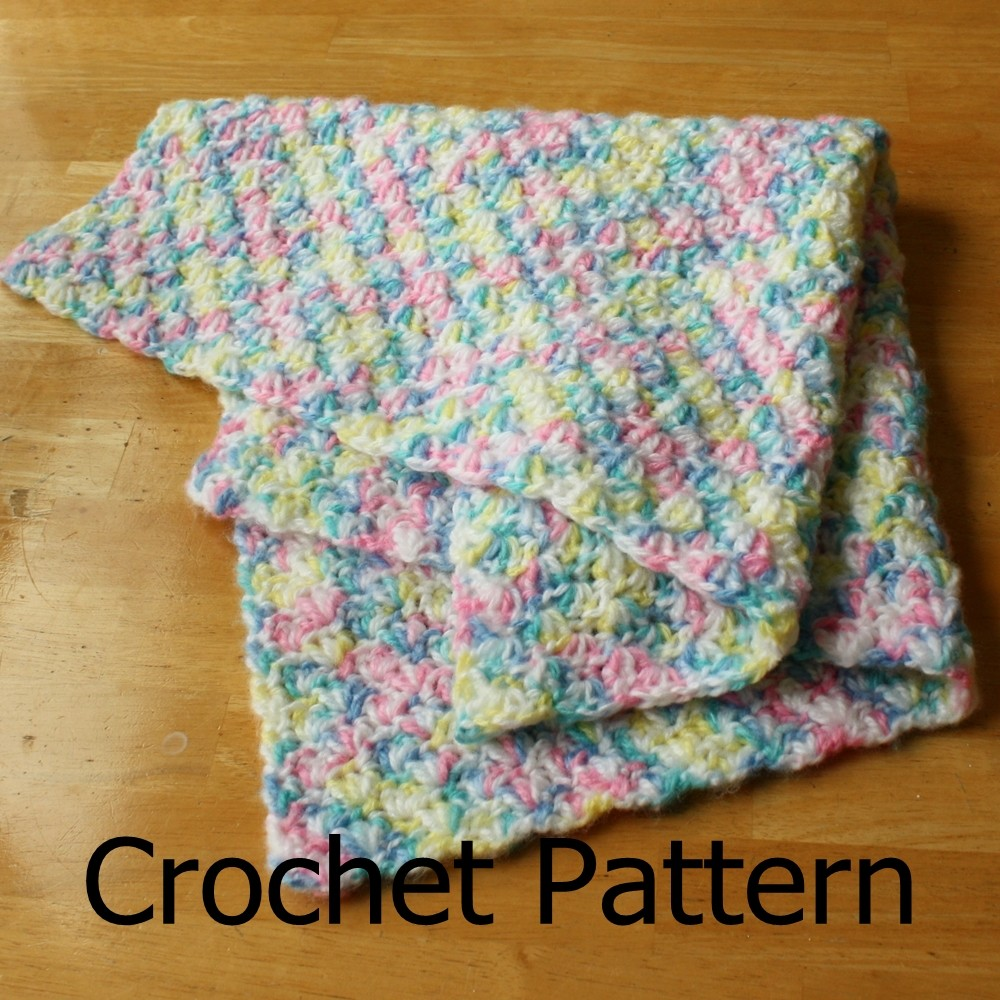 Easy Crochet Patterns For Baby Blankets : Crochet Baby Blanket Pattern Simple Shell Pattern Easy on ...