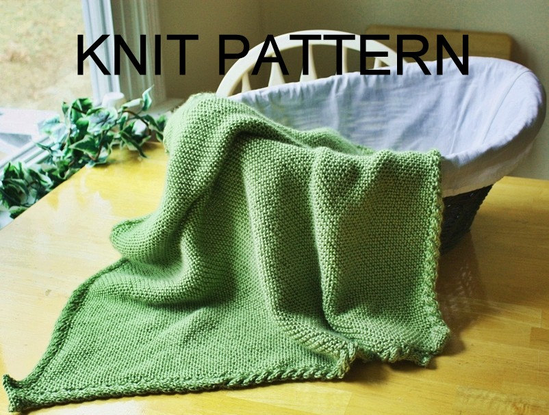 Cable Knit Blanket Pattern Knit Pattern Baby Blanket