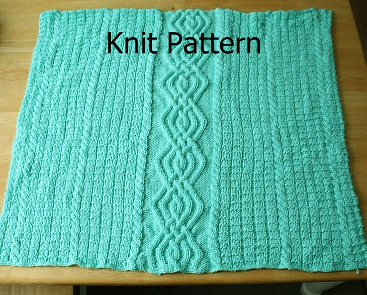 Knitting Pattern For Baby Blanket With Cable : Knit Pattern - Baby Blanket Pattern - Cable Warm Unique on Luulla