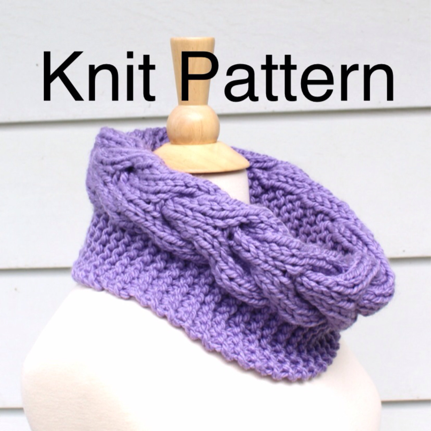 Snowman Knitting Patterns : Knit Pattern Cowl Pattern- Hand Knit Cowl Scarf Pattern With A Horseshoe Cabl...
